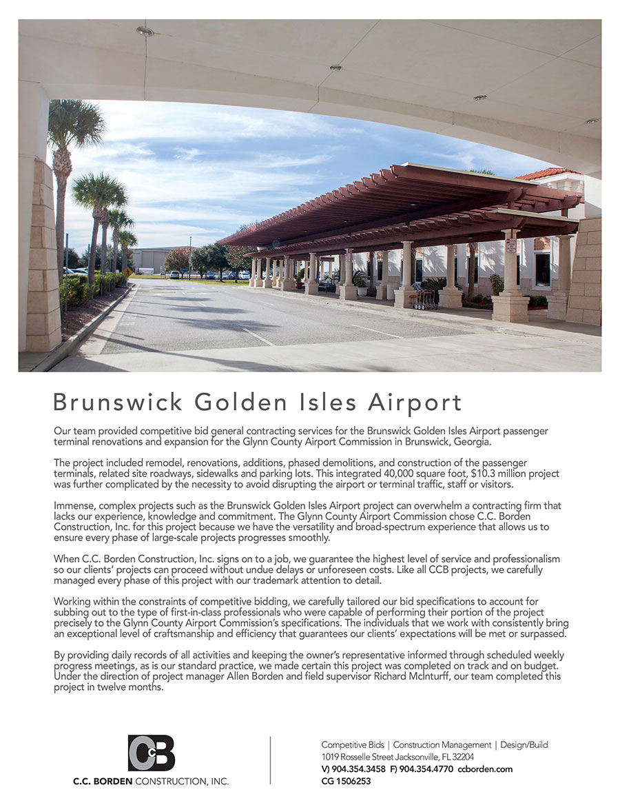 Brunswick Airport - RLS Group advertising
